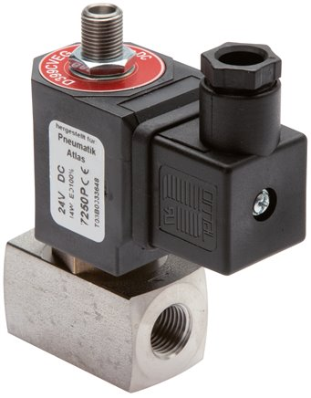 3/2-way solenoid valves from stainless steel