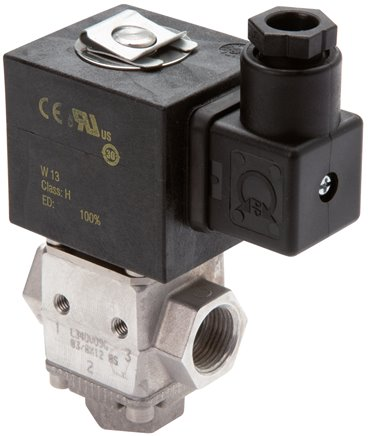 3/2-directional solenoid valves made of aluminium for fuel reversal