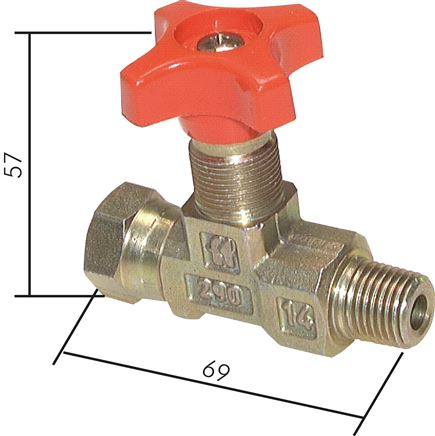 Pressure gauge shut-off valves, compact design, PN 400