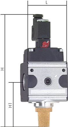 3/2-way solenoid valves with manual emergency operation, up to 14000 l/min