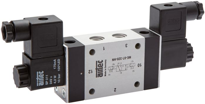 3/2-way solenoid impulse valves with external air connection, Series ME