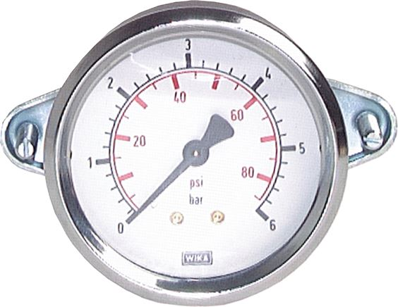 Built-in pressure gauge with triangular front ring Ø 40, 50, 63, 100 mm, Class 2.5