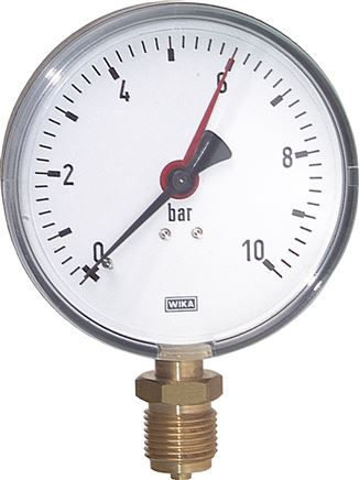Pressure gauge, vertical, Ø 80, 100, 160 mm, Class 2.5 / 1.6