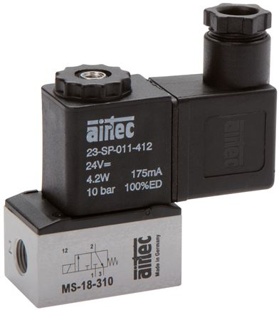 3/2-way solenoid valves, Series MS