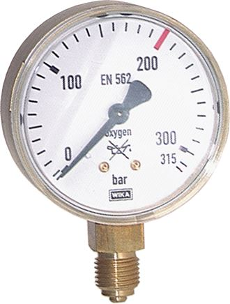 Welding technology pressure gauge Ø 63 mm, Class 2.5