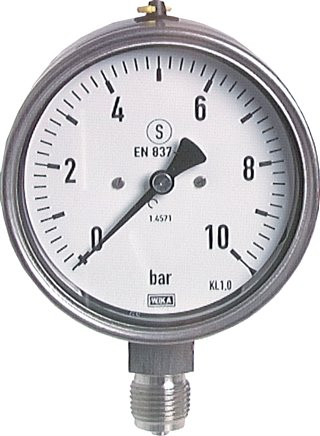 Safety pressure gauge Ø 100 mm, Class 1.0