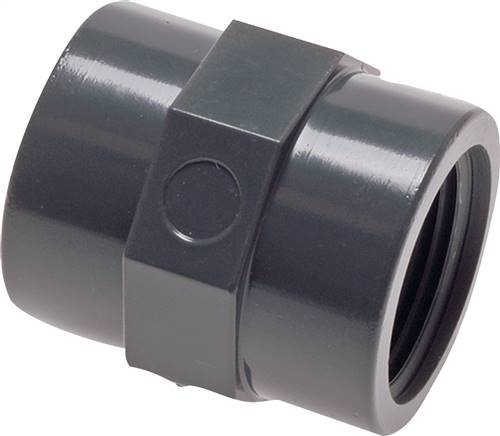 Threaded sockets PVC-U (only for plastic threads)PN 10