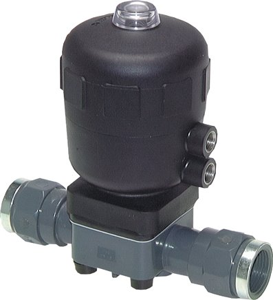 Pneumatic diaphragm valves single-acting, zero position closed, PN 10