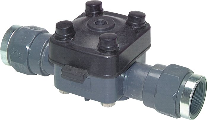 Pneumatic diaphragm valves single-acting, zero position open, PN 6