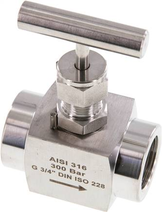 "Needle shut-off valve, stainless steel, G 3/4"", PN 300 (ECO) (NADEL 34 ES E)"