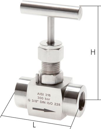Stainless steel needle shut-off valves, PN 300 (Eco-line)