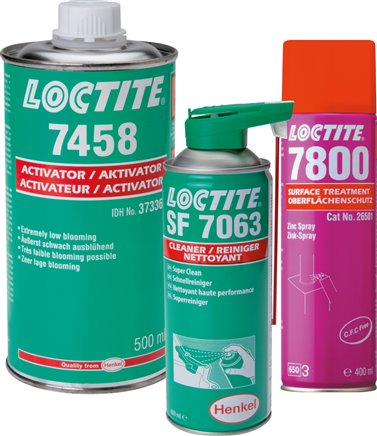 Surface preparation, LOCTITE