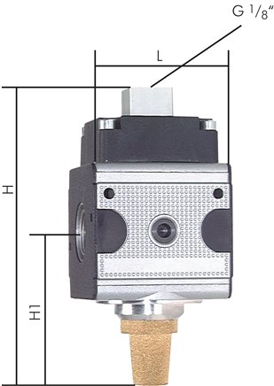 3/2-way pneumatic valves, up to 14000 l/min