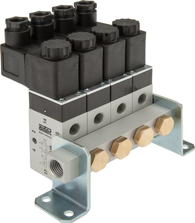 P manifolds for 3/2-, 5/2- & 5/3-way valves, for Series M, ME & P