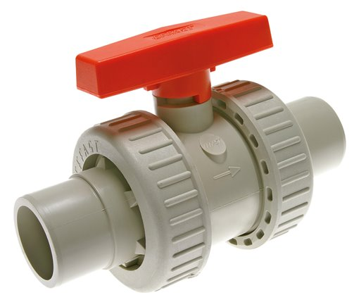 Socket ball valves PP-H for polyfusion or butt welding PN 10  (will be discontinued)