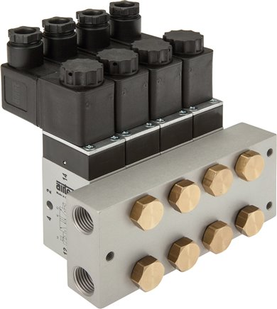P-R-S manifolds for 5/2- & 5/3-way valves, for Series M, ME & P