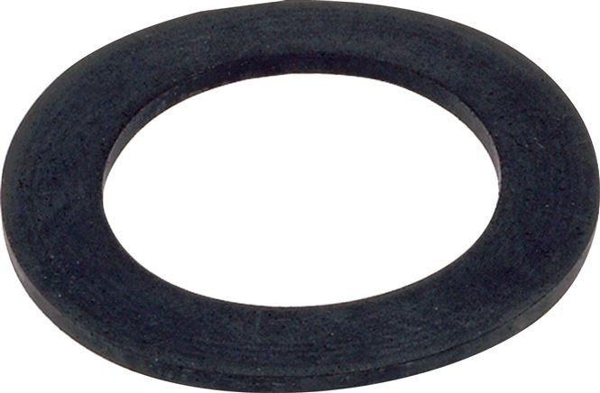 Flat seals for PVC-U loose flanges