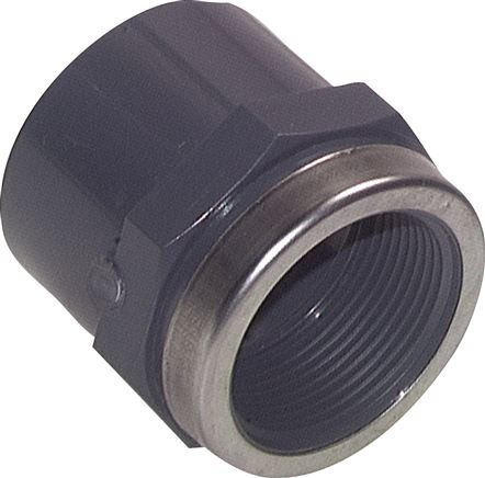 Adhesive threaded sockets PVC-U, PN 16/10
