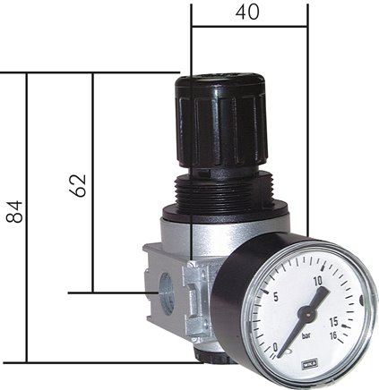 Pressure regulators, model series 0, 1,450 l/min***