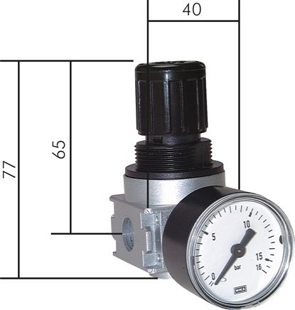 Pressure regulators, model series 0, dependent on primary pressure, 600 l/min***