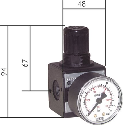 Pressure regulator and precision pressure regulator, model series 1, 2500 l/min****