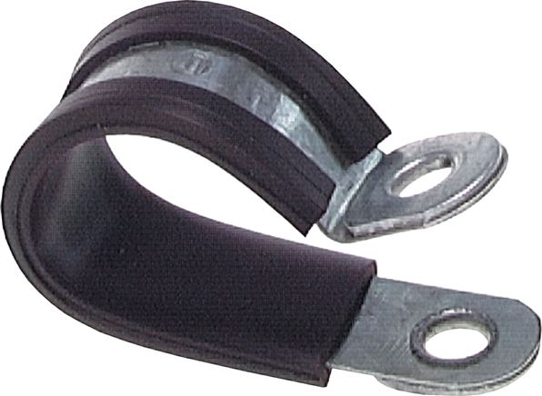 Rubber-coated pipe clamps, DIN 3016-1 (shape D1)