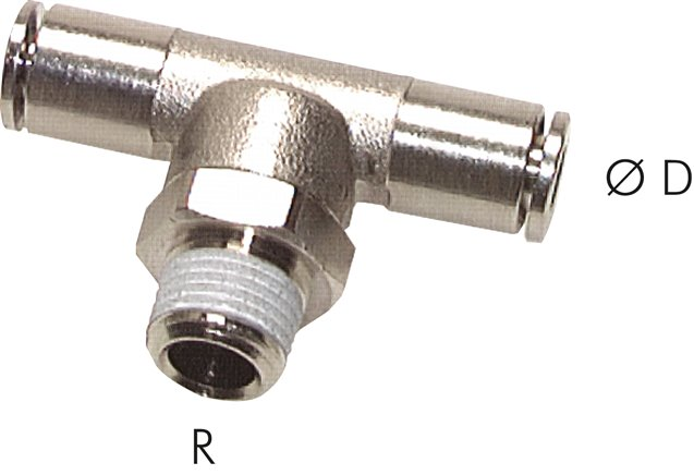 T-screw connections with conical thread (positioning)