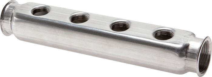 Distributor bars made of stainless steel, one-sided and double-sided, PN 10