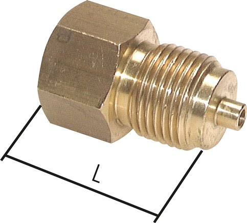 Reducers for pressure gauge connections with pin