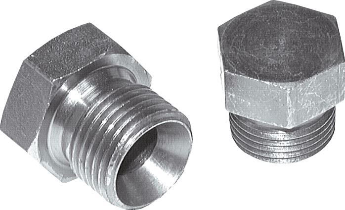 Blind fittings with inch-thread (60° conical hose nipple), up to 575 bar