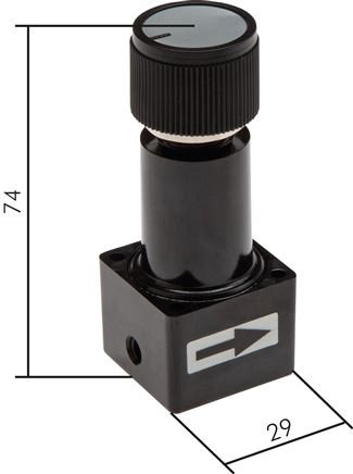 Vacuum regulator - miniature, 22 l/min