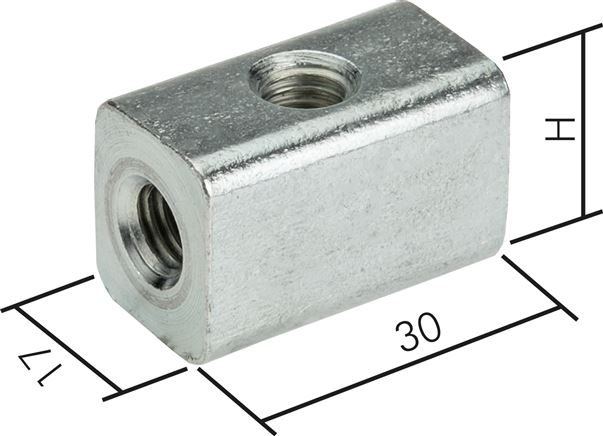Universal cubes for pipe clamps M 8 / M 10