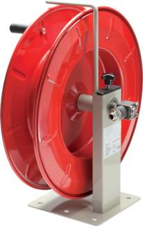 Hose reel with crank handle and stageless adjustable brake, up to 300 bar