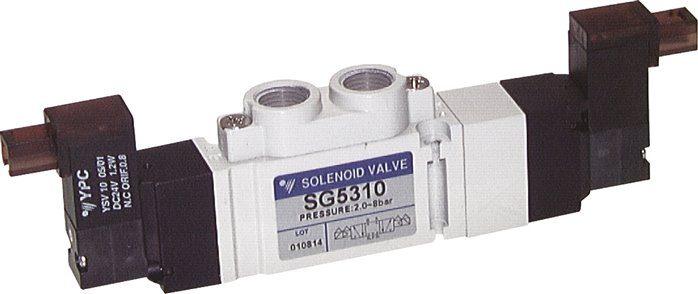 "5/3-way solenoid valves G 1/8"", SC300 model series (will be discontinued)"