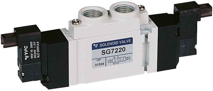 "5/2-way solenoid valves G 1/4"", Series SC400 (will be discontinued)"