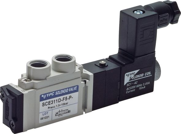 "5/2-way solenoid valves G 1/8"", SCE300 model series (will be discontinued)"