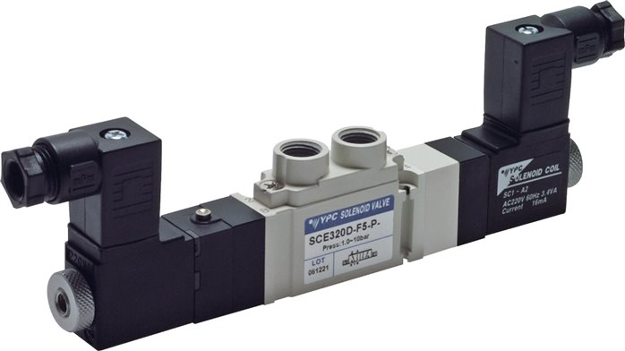 "5/3-way solenoid valves G 1/8"", SCE300 model series (will be discontinued)"