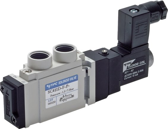 "5/2-way solenoid valves G 1/4"", SCE400 model series (will be discontinued)"