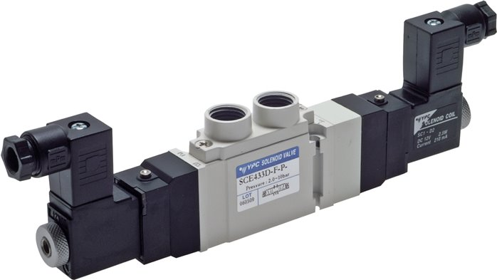 "5/3-way solenoid valves G 1/4"", SCE400 model series (will be discontinued)"