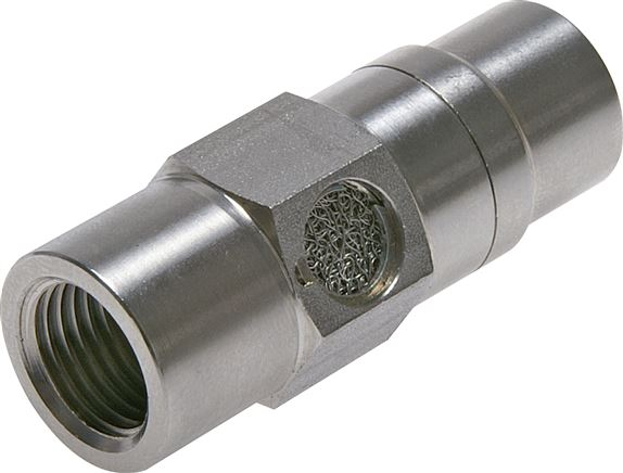 Quick venting valves made of stainless steel (incl. silencer), compact