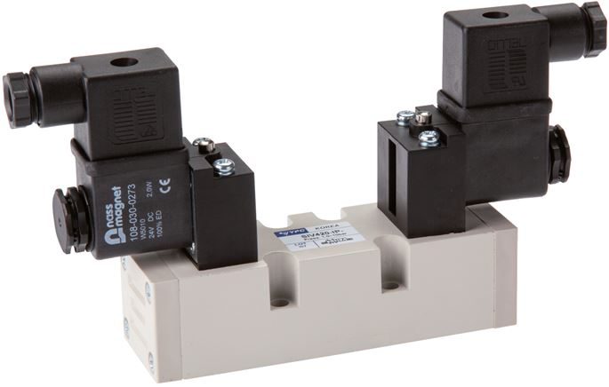 5/3-way solenoid valves (ISO 5599-1), Size 1 - SIV400 model series