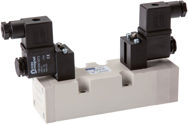 5/3-way solenoid valves (ISO 5599-1), Size 2 - SIV500 model series