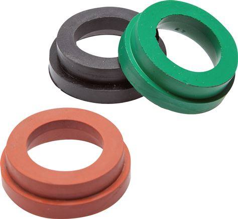 Elastomer replacement seal for rigid / pivotable compressor couplings, 42 mm