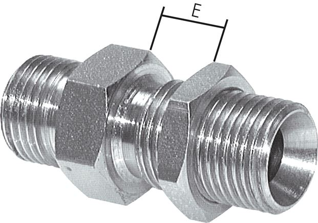 Bulkhead nipple with inch-thread (60° conical hose nipple), up to 475 bar