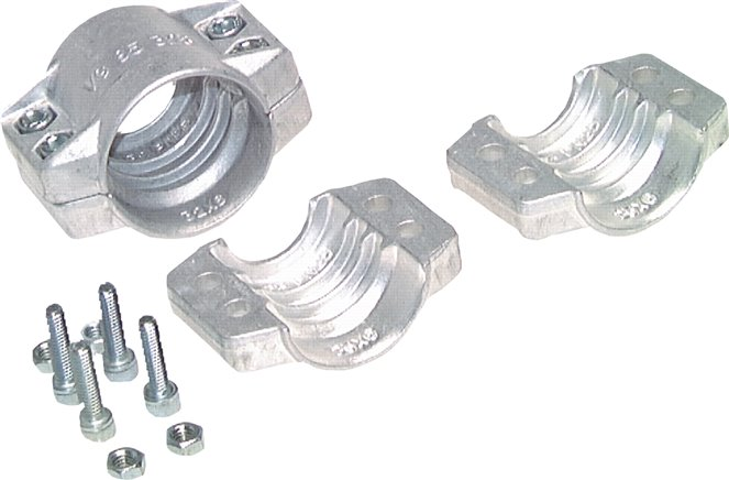Clamps 2-piece, Dimensions according to EN 14420-3 (DIN 2817)
