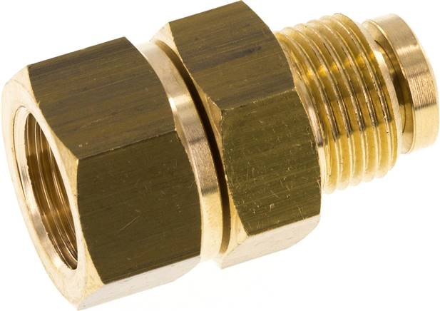 "Hot water rotary joint, G 3/8""-G 3/8"", Brass, PN220 (WS DREH 38 HD MS)"