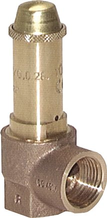 TÜV-angle type safety valves (also for saturated steam), DN 10-25 (1-16 bar)