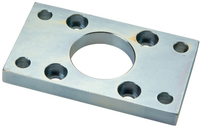 Flange attachments at the front or behind, for compact cylinders ISO 21287