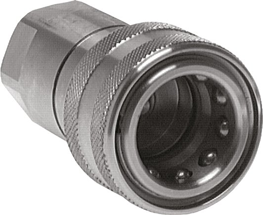 Hydraulic couplings with female threads made of stainless steel, ISO 7241-1 B