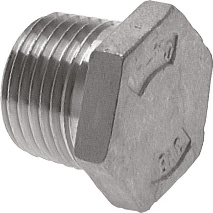 Closing plugs with outer hexagon and conical thread, up to 16 bar